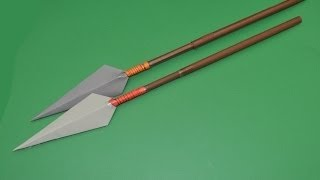 how to make paper spear