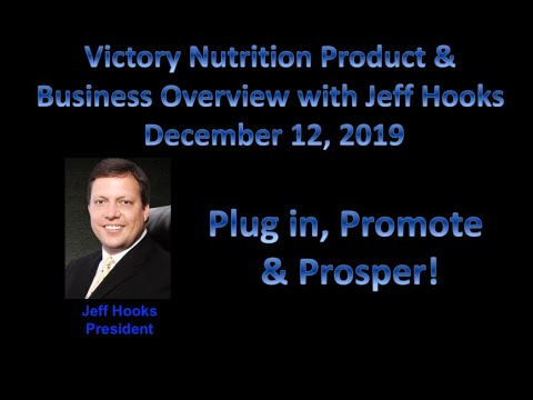 Victory Nutrition Product and Business Overview December 12, 2019