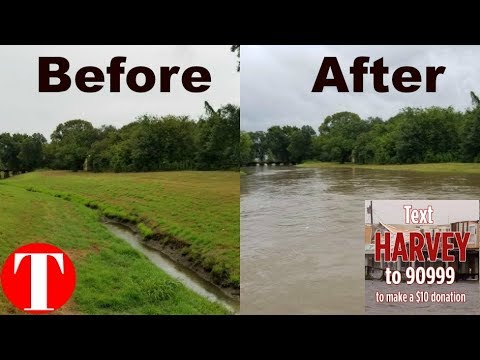Houston Before And After Harvey 2017