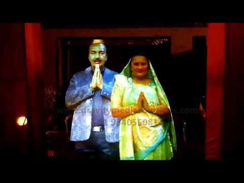 A HOLOGRAPHIC PROJECTION-VIRTUAL HOLOGRAM DISPLAY FOR WEDDING NEW CONCEPT INDIA CHENNAI RENTAL