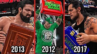 All WWE Money In The Bank Cash Ins That Failed in WWE History! ( WWE2K15/WWE2K17 )