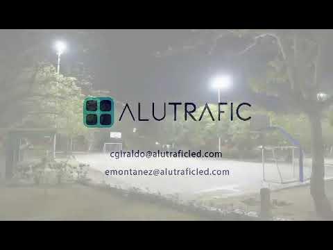 Iluminación De Parques En Barranquilla Por AlutraficLED #IluminamosElFuturo