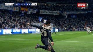 Recreación Real Madrid 1-4 Ajax - UEFA Champions League 2019