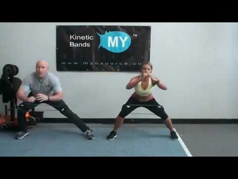 Butt And Leg Workout With Resistance Bands Kinetic Bands Youtube