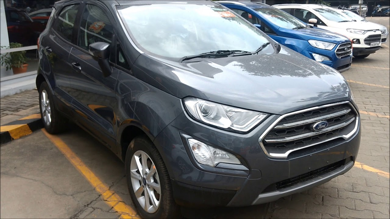 All New Ford Ecosport Smoke Grey Color First Look Walkaround