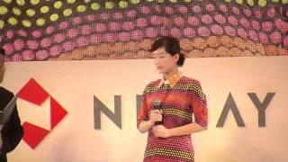 日本生命の新商品CM「みらいのカタチ」の記者発表が都内で行われた。