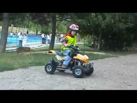 Детский квадроцикл M 3221 E-3, мягкие колеса EVA, красный - дисней .