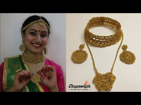 Step by step DIY | A Beautiful Crochet Jewellery Necklace | – Episode 67