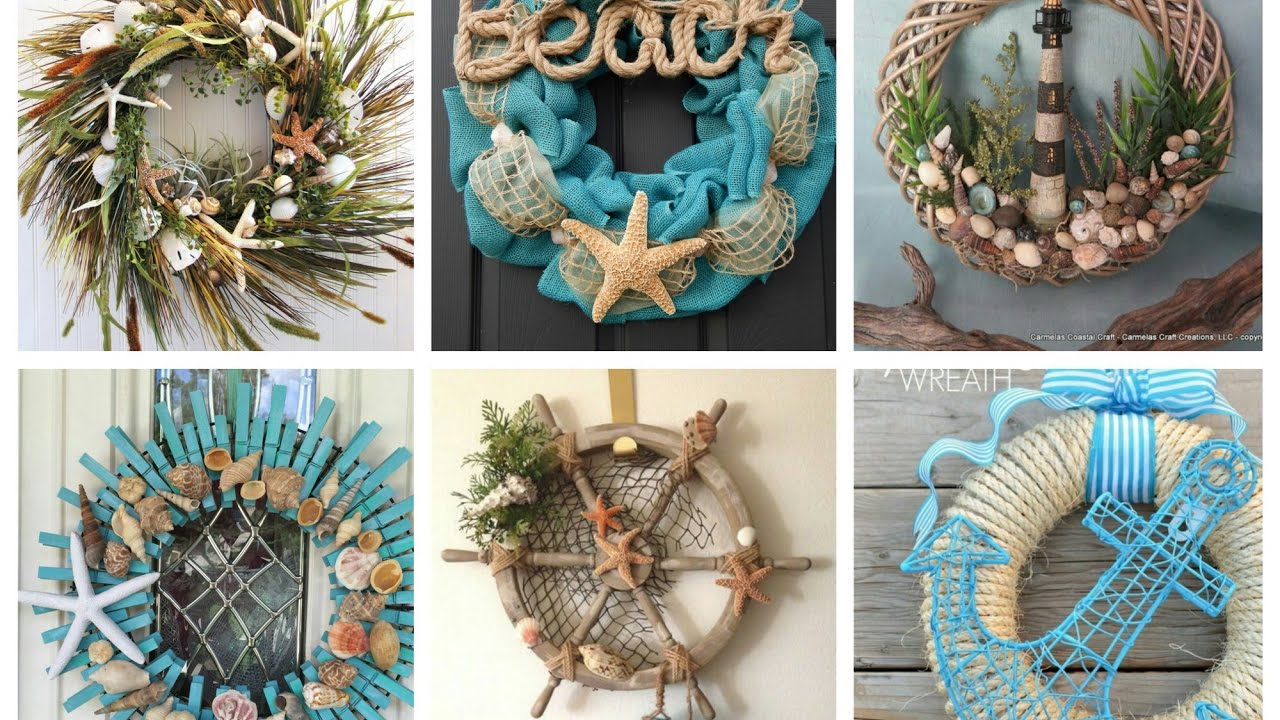 Nautical Wreaths Ideas - Summer Wreaths Inspo - Beach ...