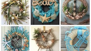 Nautical Wreaths Ideas - Summer Wreaths Inspo - Beach Themed Wreath Ideas