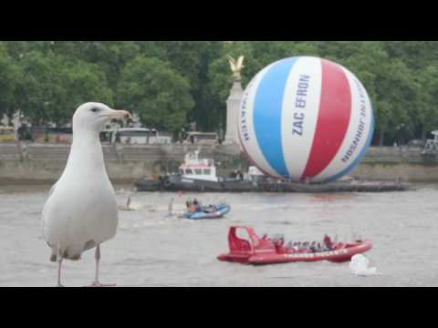 World's Largest Beach Ball at River Thames