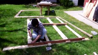 Modular Shed Part 1: The Framing