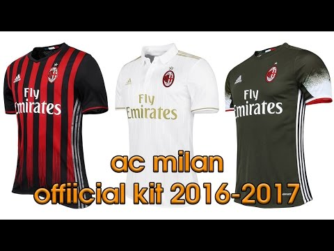 adidas AC Milan Official Kit 2016 2017