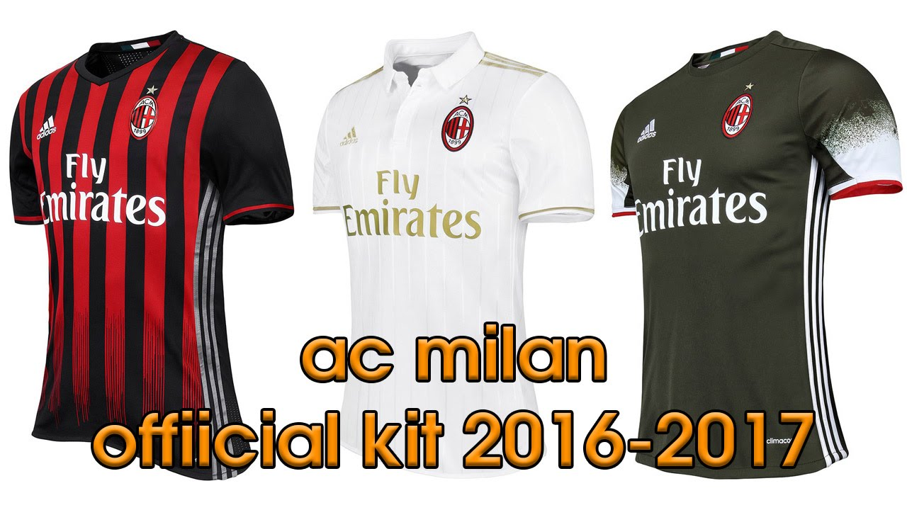 official photos ca3ee 477ae adidas AC Milan Official Kit 2016 2017
