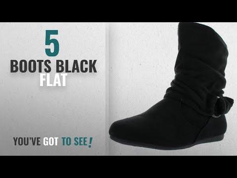 e42de49dc6b35 Top 5 Boots Black Flat [2018]: Forever Selena-58 Women's Fashion Mid ...
