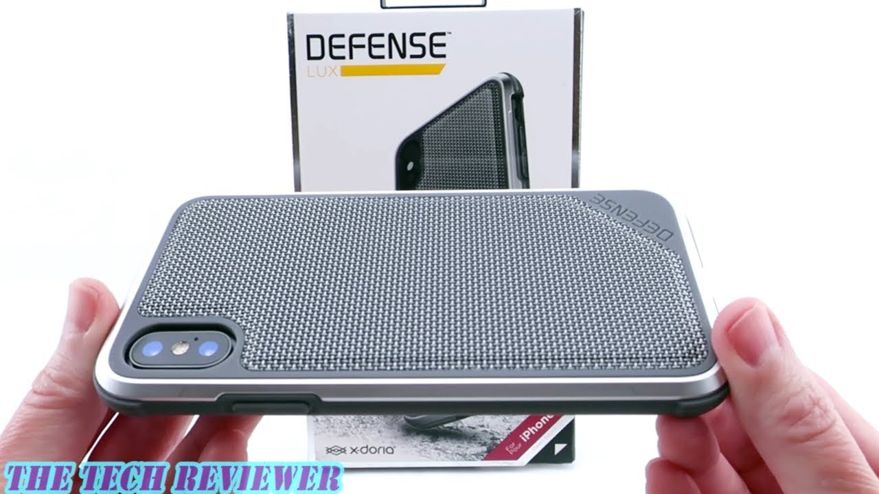 premium selection ab4bb 32b51 Slim, Lightweight & Protects to a 10 Ft Drop: X-Doria Defense Lux for  iPhone X!