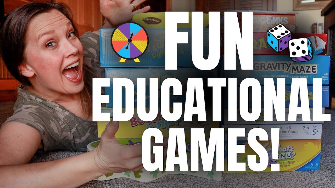 Make Learning FUN With GAMESCHOOLING | Best Educational Board Games