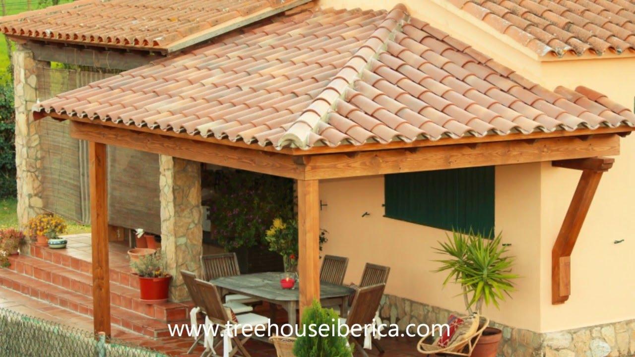 Construcci n porche de madera por treehouse iberica youtube - Porches en madera ...