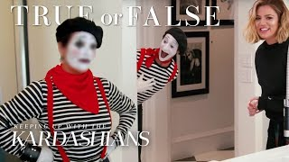 Did Khloé Turn Kris Into A Mime? | So True / So False | KUWTK | E!