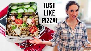 Easy School Lunch Idea: Pizza Pasta Salad