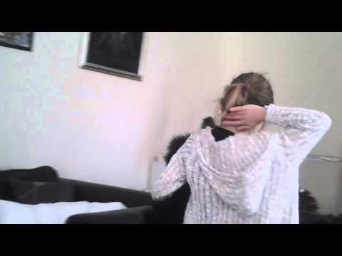 Jamie sniffs her bum