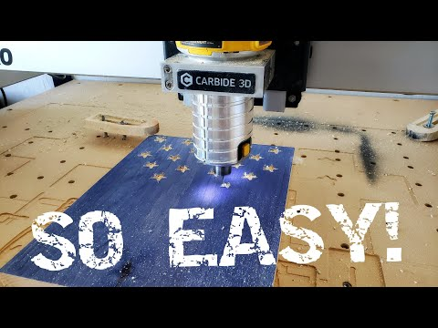 How To Carve Stars In A Wooden American Flag With A CNC #shapeoko #cnc