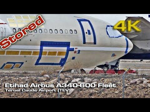 Etihad Airbus A340 600 Stored (TEV) [4K]