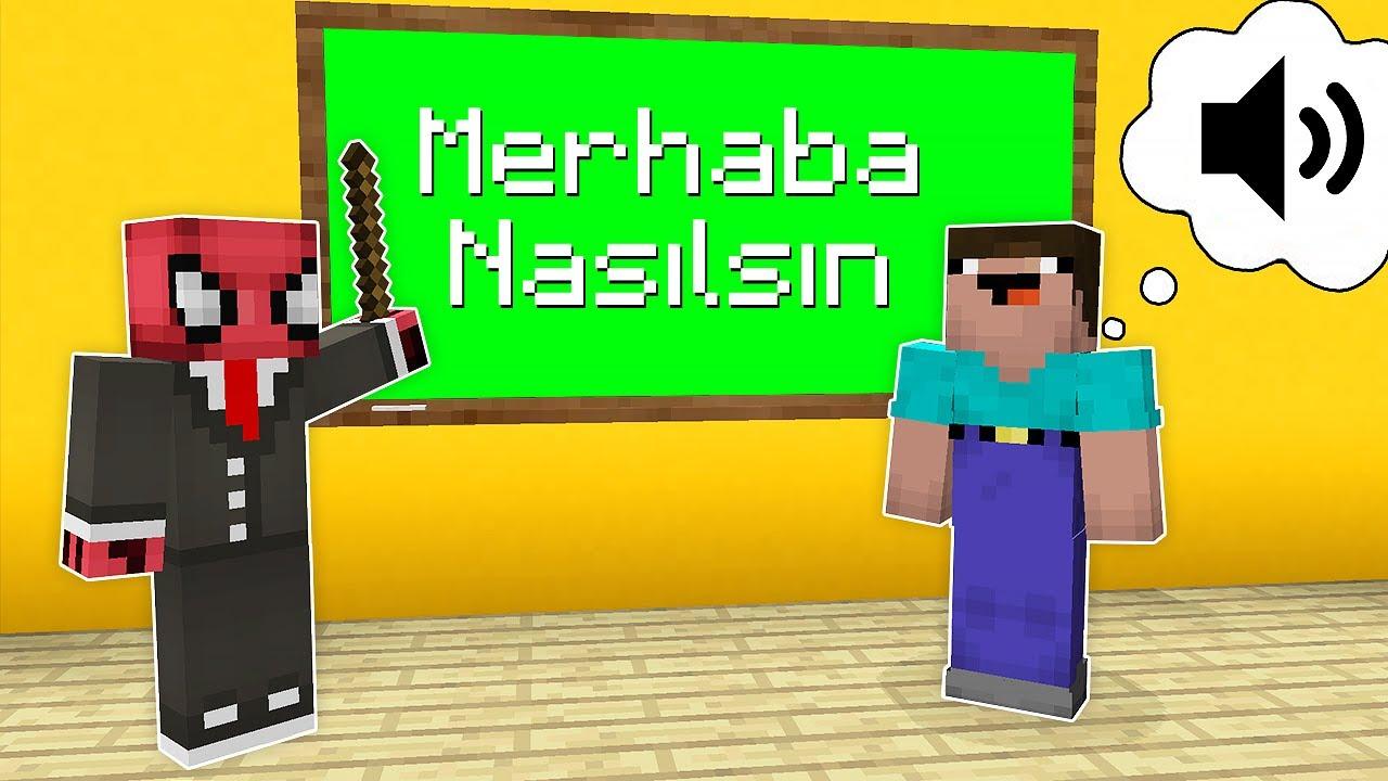 NOOB'A TÜRKÇE ÖĞRETİYORUM! 🗣️ - Minecraft