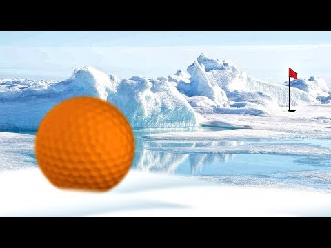 FULL SIZED ICE COURSE - GOLF IT