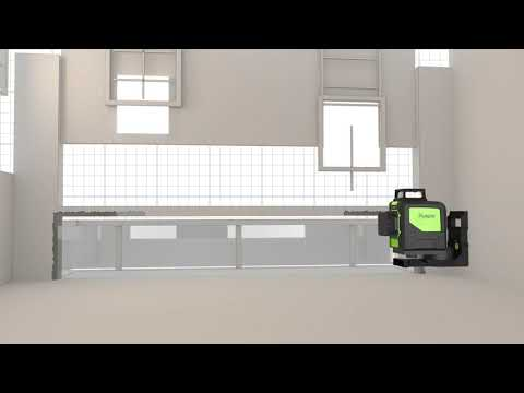 Self-Leveling laser vert niveau-Huepar 902 CG Vert Faisceau Cross Line Laser 360 °