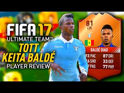 FIFA 17 TOTT KEITA BALDÉ (81) PLAYER REVIEW! FIFA 17 ULTIMATE TEAM!