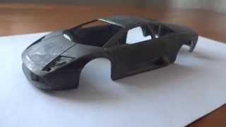 Lamborghini Murcielago 1/43 deagostini начинаем тюнинг часть 2 - снятие краски