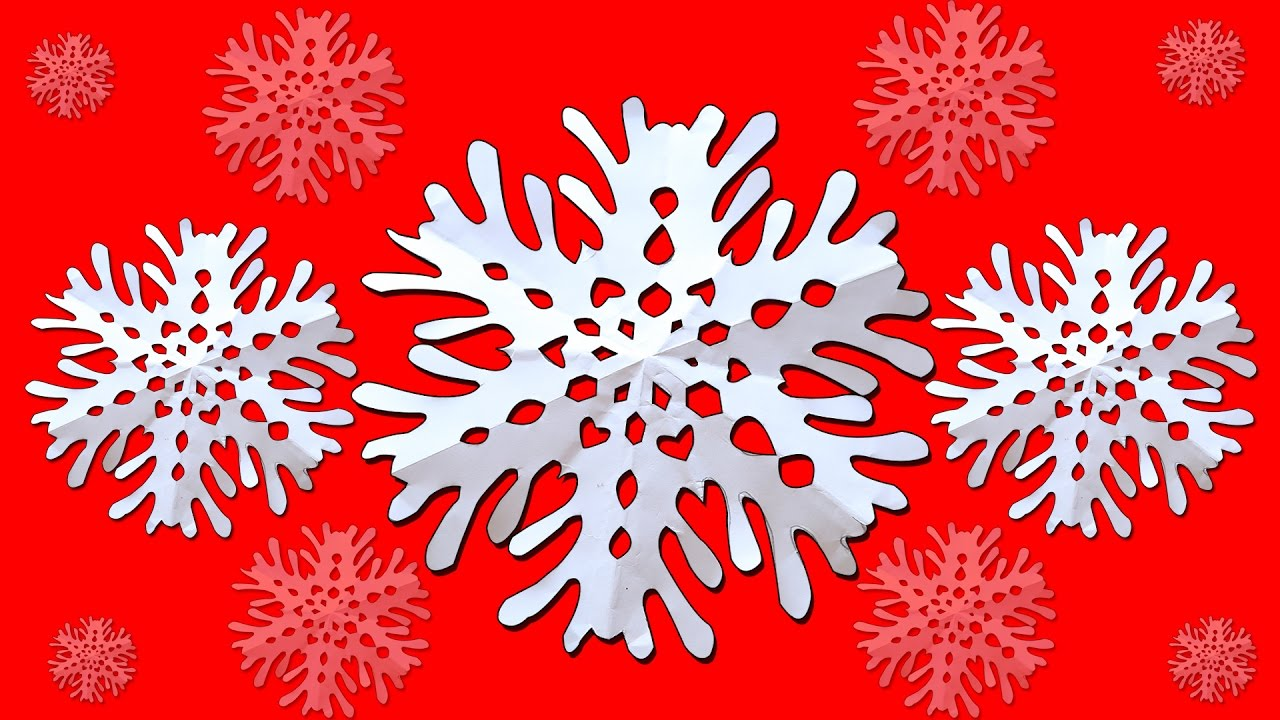 Snowflakes for Christmas | How to make Paper Snow Flakes | Winter ...