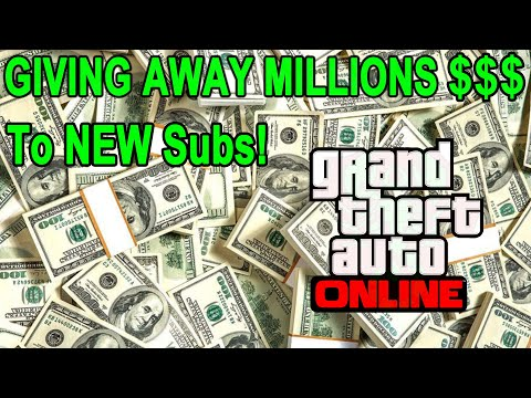 GTA 5 Giving Away MILLIONS To NEW Subs (85% Heist Giveaway) #gta5