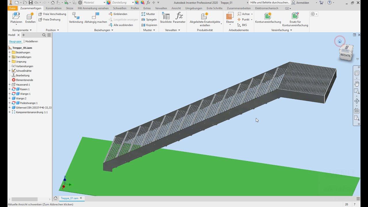 Download Inventor Tutorial Außentreppe