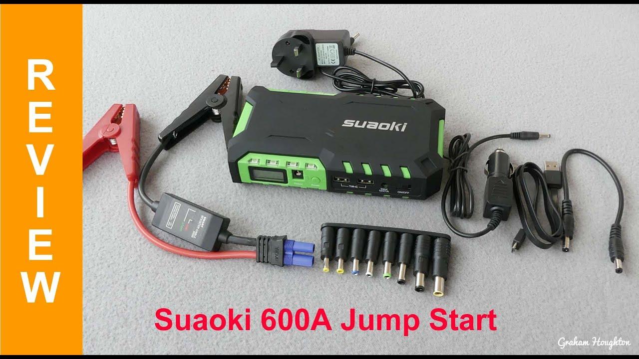 Suaoki g7 portable 600a car jump starter with 18000mah external power bank