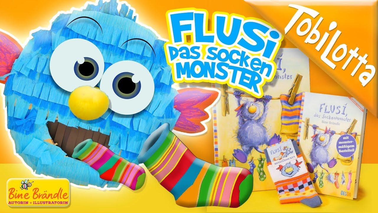Diy Bine Brandle Flusi Sockenmonster Kindervideos Kinderfilme
