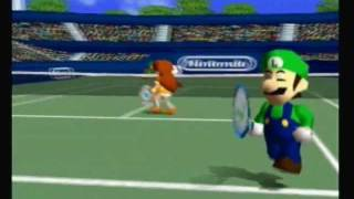 Repeat youtube video Mario Tennis N64 Mushroom Cup: Luigi and Daisy