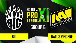 CS:GO - Natus Vincere vs. BIG [Dust2] Map 2 - ESL Pro League Season 11 - Group B