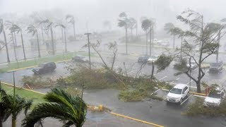 Video del Huracán Maria pasando por Puerto Rico Con fuerza destruct...