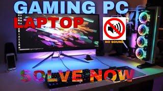 How to fix no sound in games pc #techtip #computerrepair