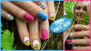 Lego Nail Art! Lego Heads, 3D Bricks, Blocks Nail Design. Toy Nail Art. Nail art in Future - iPhone