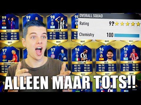 ALLEEN MAAR TOTS FUT DRAFT CHALLENGE!! FIFA 17 NEDERLANDS