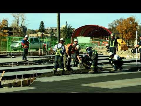Concrete Work at Peace Bridge Park in Calgary, Canada