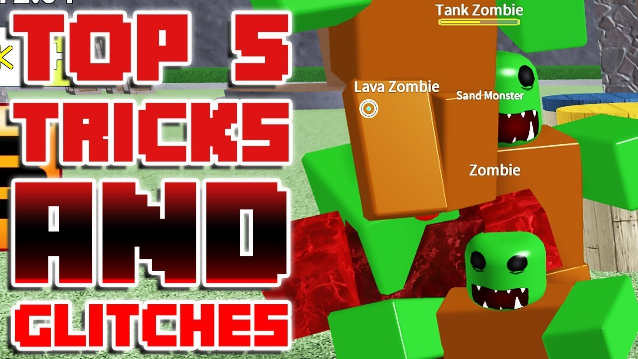 Top 5 Tricks And Glitches Roblox Zombie Attack Youtube