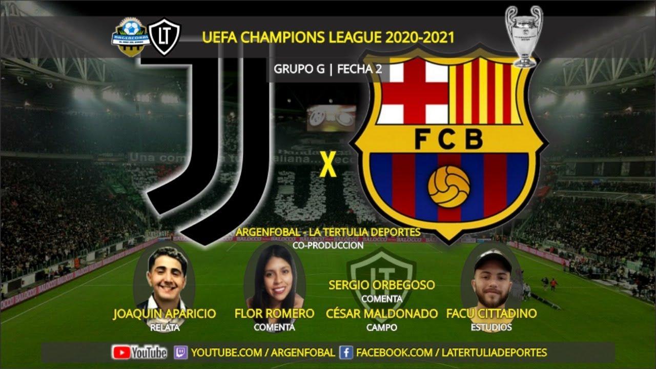 🔴 JUVENTUS x BARCELONA | CHAMPIONS LEAGUE 2020-2021 ...