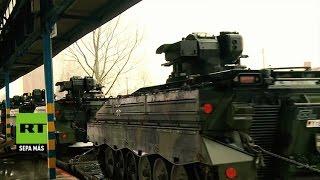 Decenas de tanques alemanes llegan a Lituania como parte del despliegue de la OTAN
