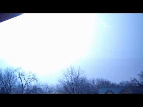 Kansas City lightning strikes on radio tower x 3 last one is best