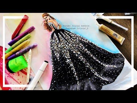Super Easy Fashion Illustration Dress Painting - Beginner Level