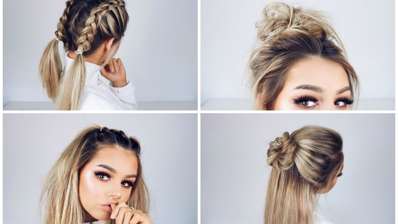 QUICK AND EASY HAIRSTYLES - YouTube